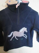 Child's fleece jumper with grey horse image