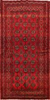 Vintage Geometric Balouch Traditional Area Rug Wool Handmade Oriental Carpet 4x6
