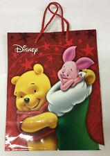 Disney busta di Natale natalizia in Carta Sacchetto Pacco Regalo 26x20 cm Winnie