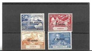 Aden 1949 UPU set of four SG 32-35 Mint Light Hinged