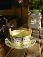 1913 Rare Vintage Butterfly Lusterware Thomas Sevres Bavaria Set Bowl & Plate