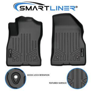 SMARTLINER Floor Mats 1st Row Liners Black for 2015-2021 Ram ProMaster City