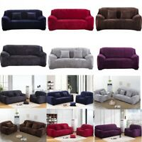 Velvet Sofa Cover Thick Stretch 1/2/3/4 Seat Couch Slipcover Furniture Protector