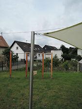 Sonnensegelmast Pfosten Edelstahl VA 3m ∅60mm 2fach höhenverstellbar 6030/2-2