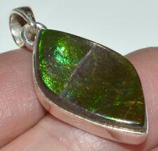 Genuine Canadian Ammolite 925 Sterling Silver Pendant Jewelry JB14347
