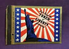 Advertising Matchbook Cover KEEP THE TORCH OF LIBERTY BURNING
