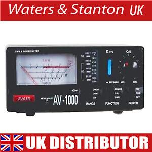 AVAIR AV-1000 SWR Meter 1.8MHz-1300MHz All Ham Radio & CB Bands