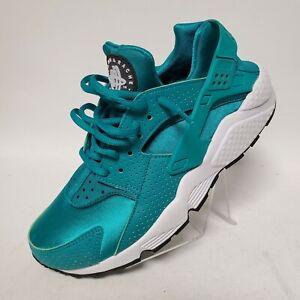 Nike Air Huarache Run Teal Blue Metallic Womens Size 7.5 634835-301