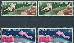 Togo - Raumfahrt Satz postfrisch 1966 Mi. 513-516