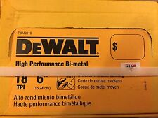 DeWalt- 6 inch 18 TPI BI-Metal Reciprocating Saw Blade ~ 100 Pack ~ New In Box