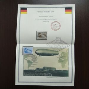 Germany 1930 Airmail Overprint Stamps MNH First flight of Graf Zeppelin to South