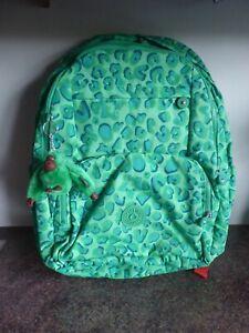 Kipling - HAHNEE - Large Backpack - Cheetah Star Print - Green - New With Tags