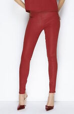New 7 For All Mankind x Giambattista Valli Flame Red Stretch Jeans Sz27/UK8-10