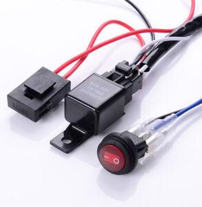 Wiring Harness Relay Kits Switch 12V For Work Fog Light LED Lamp Bar Universal