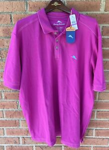 $98 TOMMY BAHAMA MENS THE EMFIELDER POLO FESTIVAL PIMA COTTON GOLF SHIRT XXL 2XL
