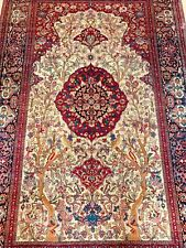 Beautiful antique hand made Kashan rug size 214x141cm