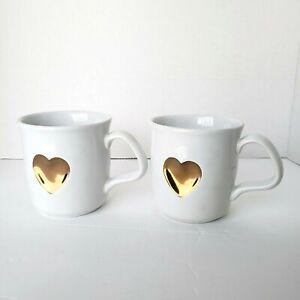 Set of 2 William Sonoma St. Jude Children's Hospital Heart Coffee Mugs