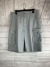 Levis Mens 33 Gray Cargo Work Shorts length 24 multiple pockets