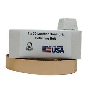 "1"" x 30"" Leather Honing & Polishing Belt With Buffing Compound"