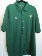 Notre Dame Golf Adidas ClimaCool Large Dk Green Licensed Authentic  NWT