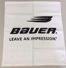 "Bauer Sports Equipment RALLY TOWEL Hockey Skates Vtg NHL ""LEAVE AN IMPRESSION"""
