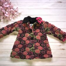 Girls Corky & Company Floral Button Front Coat - Size 4T