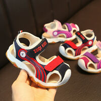 Toddler Kids Baby Girls Boys Children Sneakers Closed Toe Beach Shoes Sandals