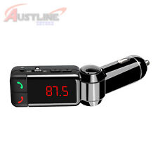 Bluetooth Car Kit HandsFree, FM Transmitter, MP3 Player Dual USB Charger wMemory