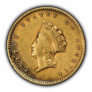 1854 G$1 Indian Princess Head Gold Dollar - Type-2 - SKU-Y2125