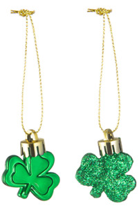36 Pieces St. Patricks Day Shamrock Ornaments Good Luck Clover Green  Decoration