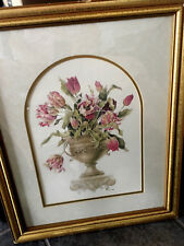 By Caren Heine Topiary with pink curly Tulips/