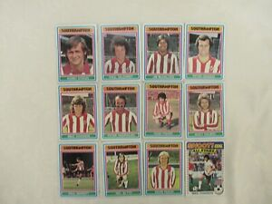 Southampton Football Players-FA Cup Winners Of 1976-x12- Football Trading Cards
