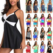 Women Tankini Set Swim Dress Bikini Swimwear Monokini Swimsuit Bathing Beachwear