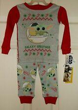 2t Disney Star Wars Baby Yoda Christmas Pajamas Sleep Ware Pj's Mandalorian