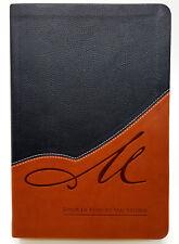 BIBLIA DE ESTUDIO MACARTHUR REINA VALERA 1960 PIEL ITALIANA CAFE CON NEGRO