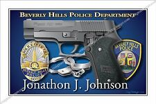 Police,Beverly Hills,Department,Sheriff,County,Retirement,Promotion,badge,gift