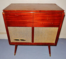 Vintage 50s Mid Century Modern Philco F1702 Record Player AM Radio Console!