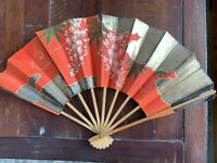 Antique Folding Fan from Formosa, Japan 1945/Signed