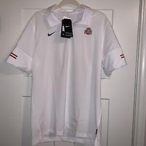 New Nike Ohio State Buckeyes OSU Flex On Field Team Polo Small CQ5274-100 $80