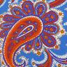 ROBERT TALBOTT Mens Blue White Orange Lime PAISLEY Silk Linen Tie Italy NWOT