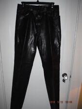 BANZAI Brand Shiny Black Leather Pants Jeans