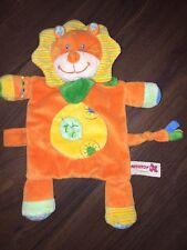 Nicotoy Schmusetuch Kuscheltuch Schnuffeltuch C&A Löwe Katze Orange Blatt Grün