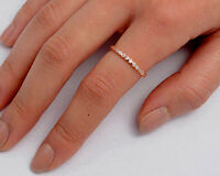Eternity Ring Sterling Silver 925 Rose Gold Plated Gift Band Width 2 mm Size 2