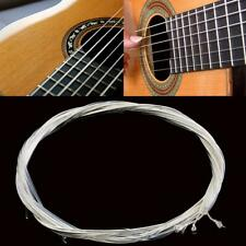 Classical Set of 6 Nylon Clear & Silver Guitar Strings Medium Gauge Replacement