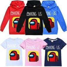 Among Us Game T-Shirt Hoodie Kids Children Long Sleeve Hooded Sweatshirt Jumper