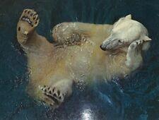 Enerett Knut Vintage Unposted Postcard Swimming Polar Bear