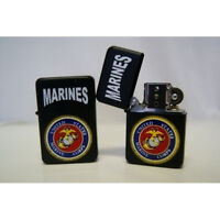 Black USMC Marine Corps Flip Lighter
