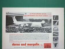 12/1968 PUB DORNE & MARGOLIN ANTENNES ANTENNAS LOCKHEED C-5A GALAXY FRENCH AD