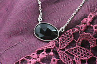 Wholesale Price, 925 Sterling Silver Necklace with Black Onyx Gemstone Pendant