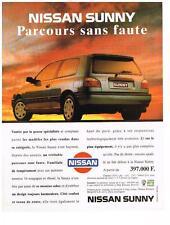 PUBLICITE ADVERTISING   1993    NISSAN  SUNNY  parcours sans faute